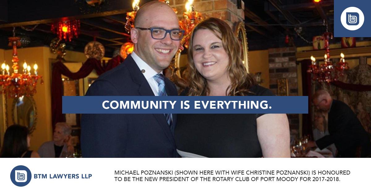 Michael Poznanski Rotary Club of Port Moody
